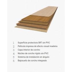 Amorim Wise Tarima Ecológica Wood Inspire - estructura